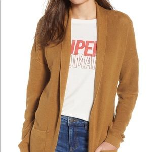 BP curved hem cardigan